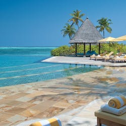Infinity pool at Four Seasons Resort Maldives at Kuda Huraa