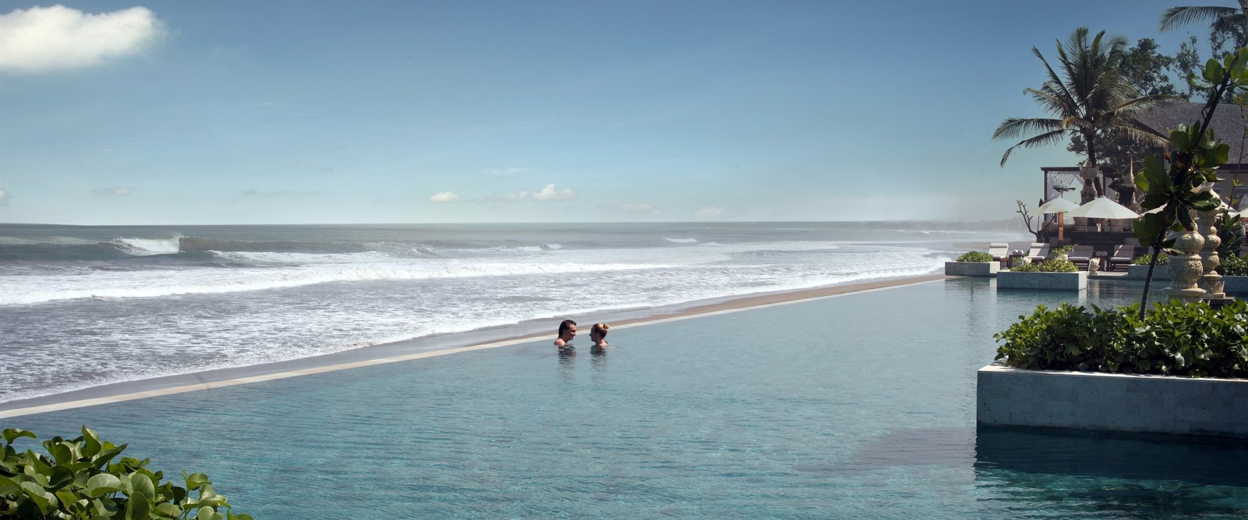 Infinity pool at The Seminyak Beach Resort & Spa