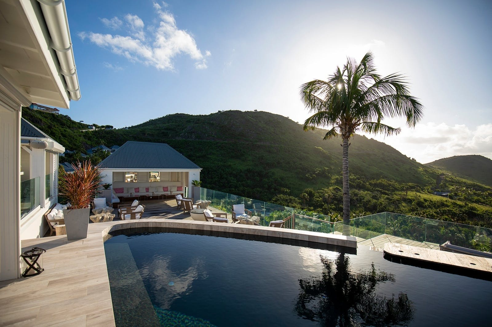 Pool and Bar, Hotel Le Toiny, St Barths, Caribbean