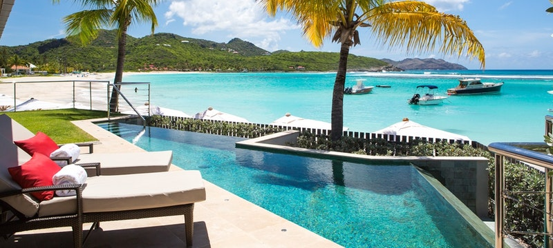 Waterlily Diamond Suite with infinity pool at Eden Rock, St Barths