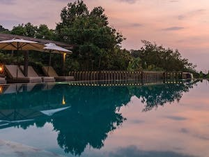 Infinity Swimming Pool at Veranda Natural Resort, Cambodia