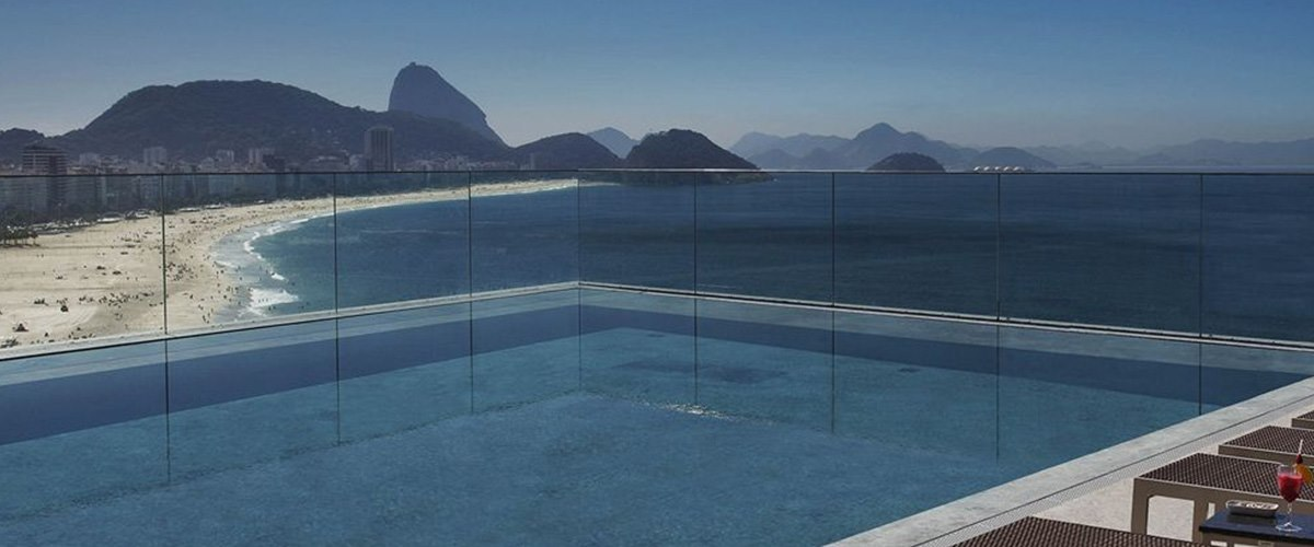 Infinity pool at Miramar Hotel by Windsor, Brazil