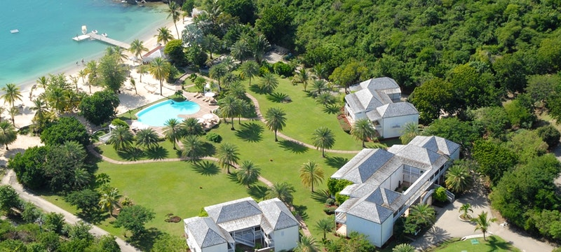 Picturesque aerial view of The Inn at English Harbour, Antigua