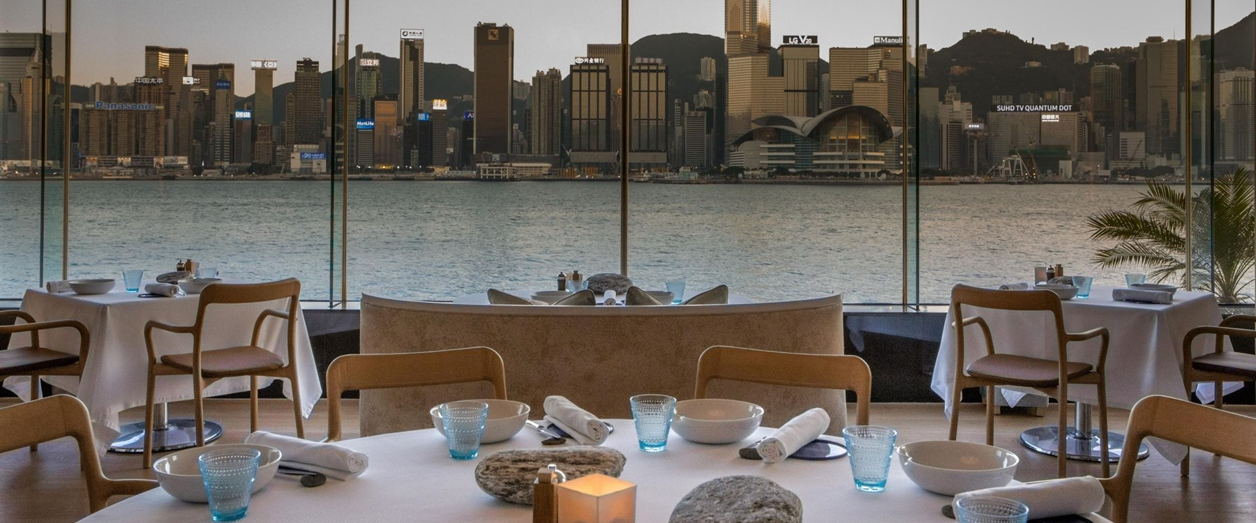 restaurant with beautiful view at InterContinental Hong Kong