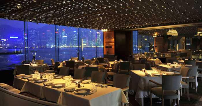 dining area at InterContinental Hong Kong