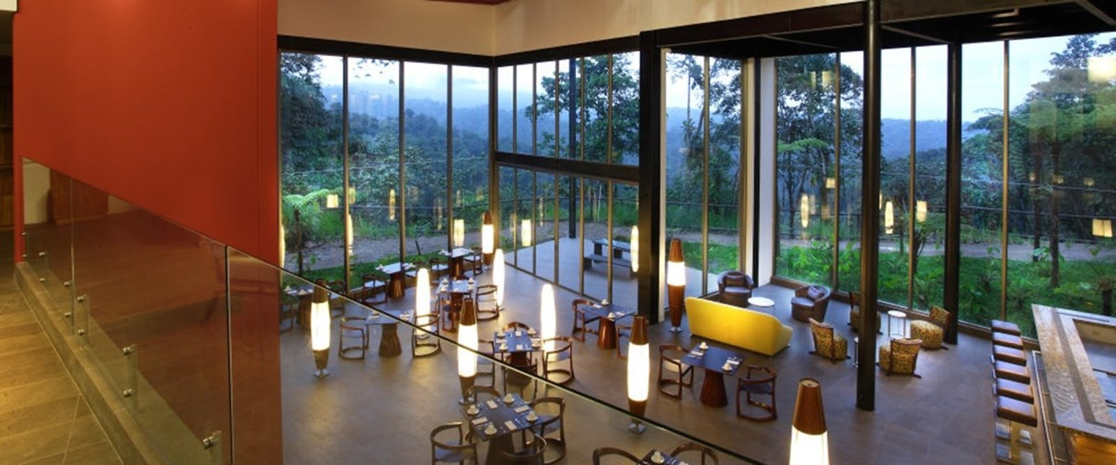 Interior of Mashpi Lodge, Ecuador