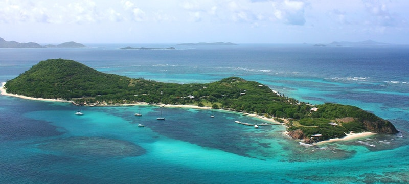 Aerial view of Petit St. Vincent
