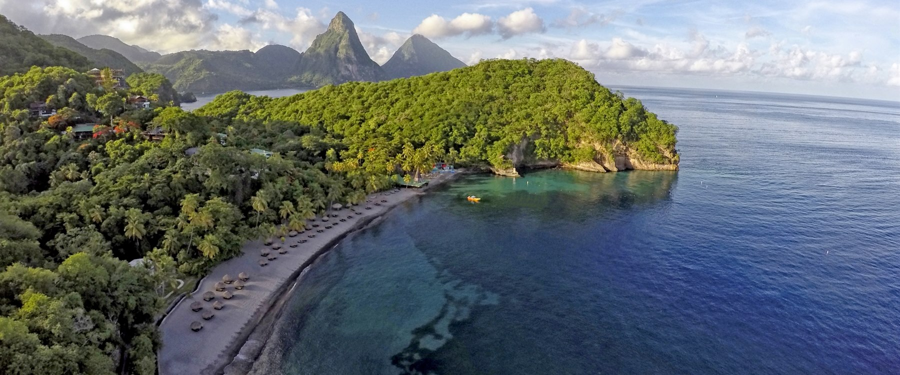 moon sanctuary room with infinity pool at jade mountain st lucia