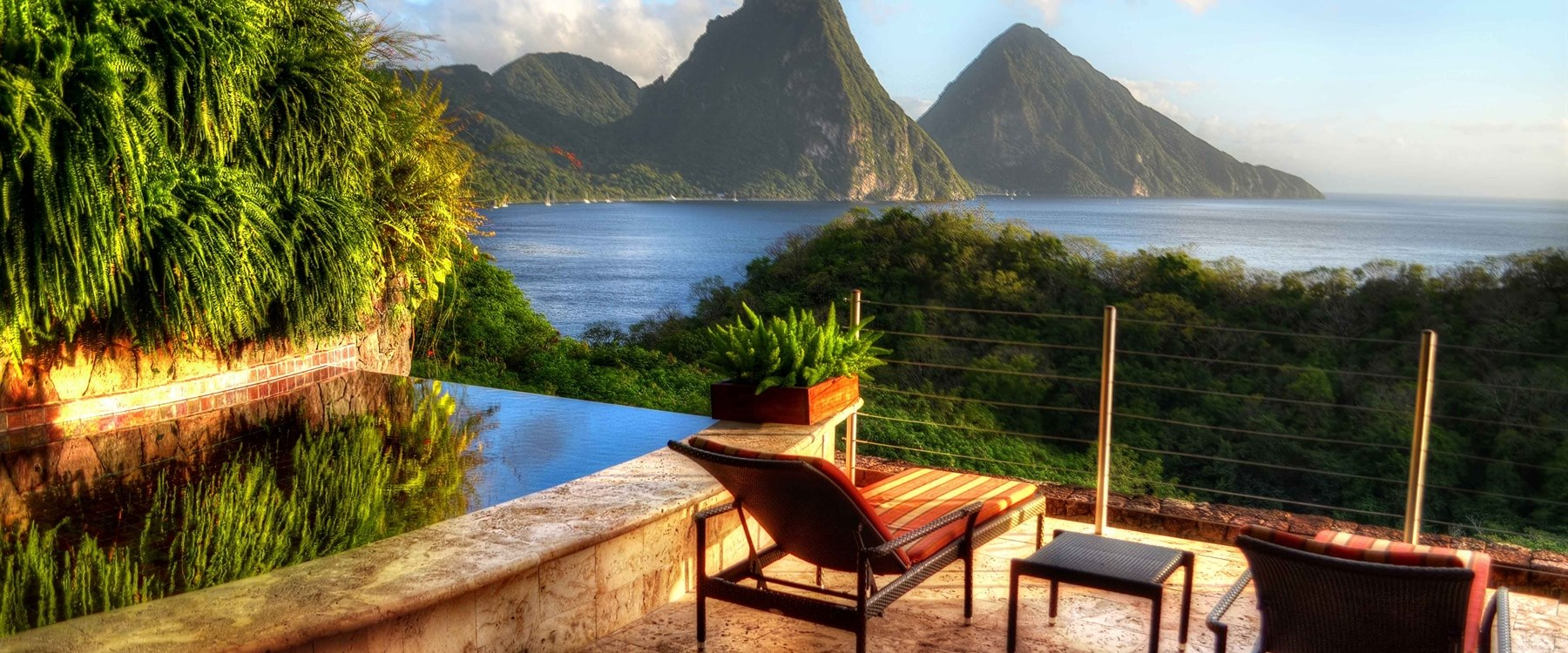 relax along the beautiful shore line at jade mountain st lucia