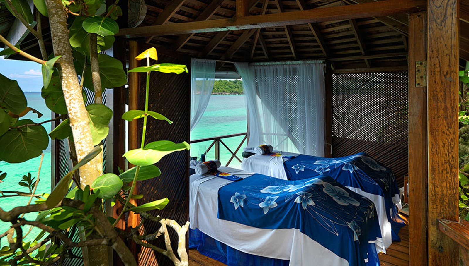 Relaxing spa overlooking the ocean at Jamaica Inn, Jamaica