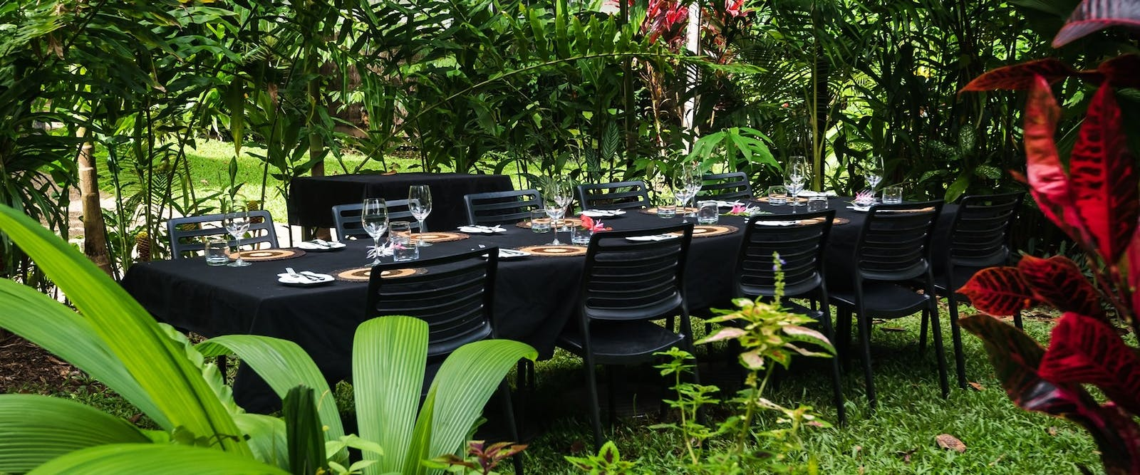 Dining table outdoors, Daintree Eco Lodge and Spa