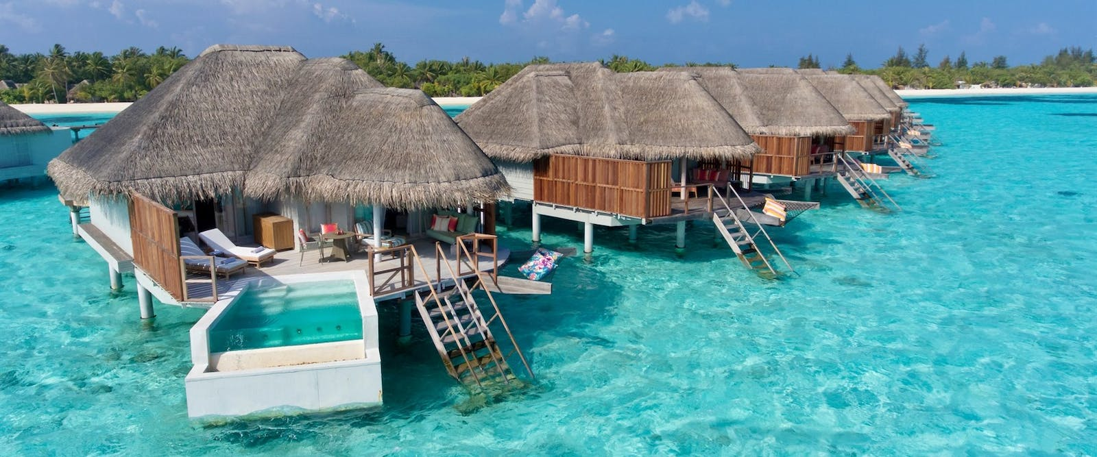 Water Villas at Kanuhura, Maldives, Indian Ocean
