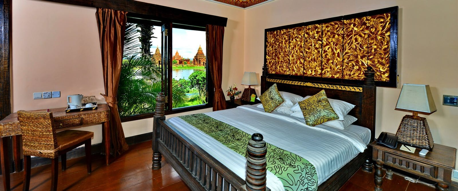 Jasmine villa bedroom at Aureum Palace Hotel Bagan