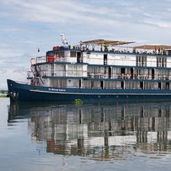 Exterior of Jayavarman Cruise, Vietnam and Cambodia