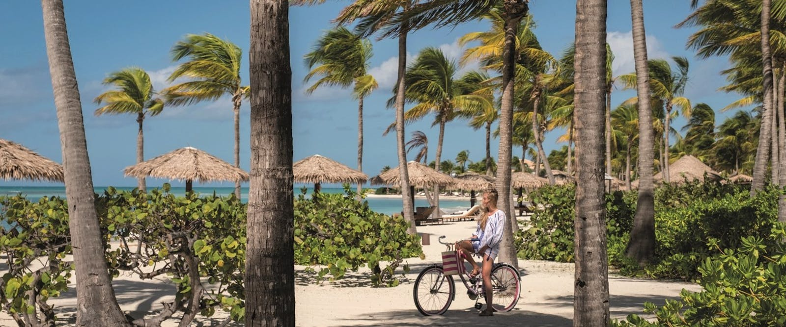 Cycle Around the Beautiful Resort at Jumby Bay Island, Antigua