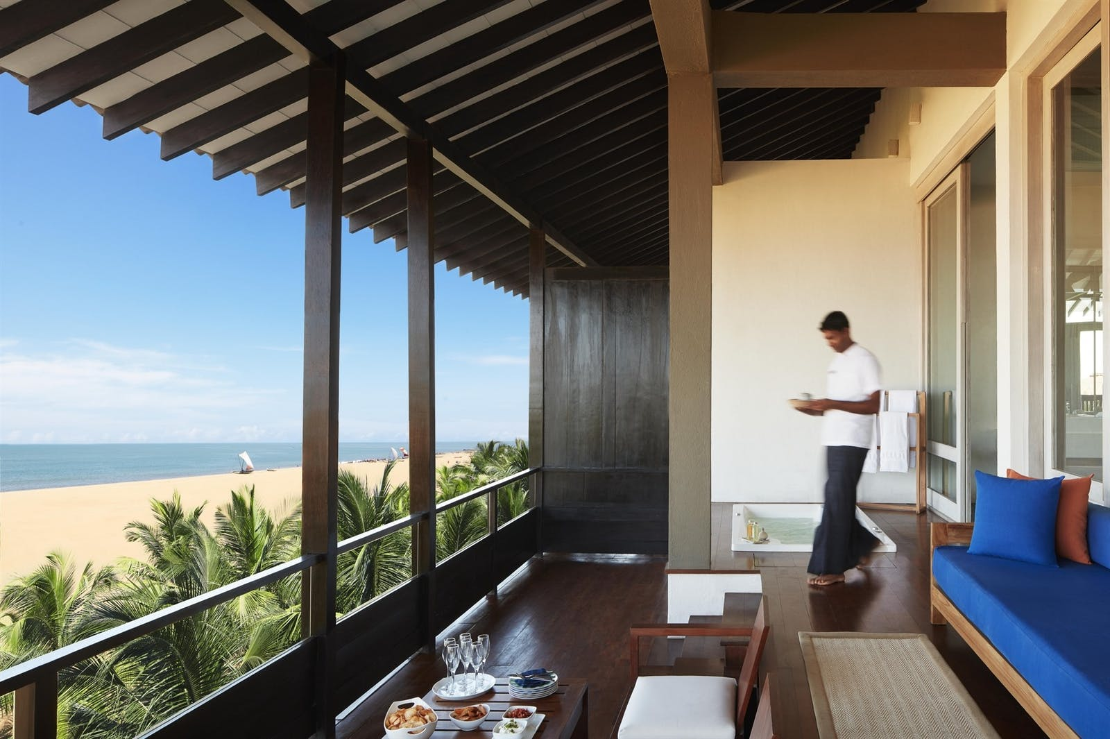 The Suite balcony at Jetwing Blue, Sri Lanka