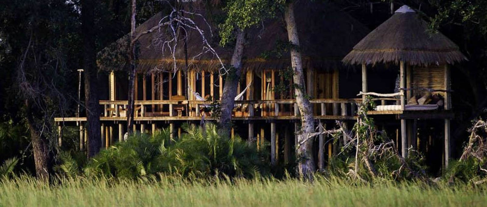 Luxury lodge at Jao Camp, Botswana
