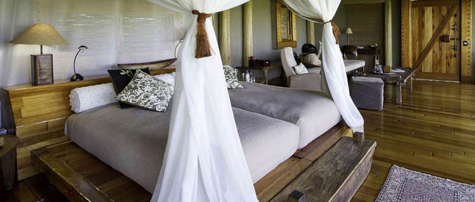 Luxury En-Suite bedroom at Jao Camp, Botswana