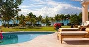 Outside pool at Jumby Bay, A Rosewood Resort, Antigua