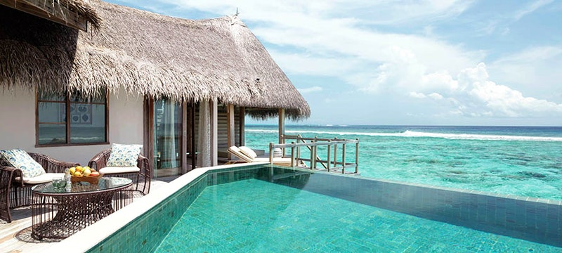 Private pool in a Water Villa at Jumeirah Vittaveli, Maldives