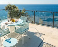 Mar Blau Suite terrace at Jumeirah Port Soller Hotel & Spa, Mallorca