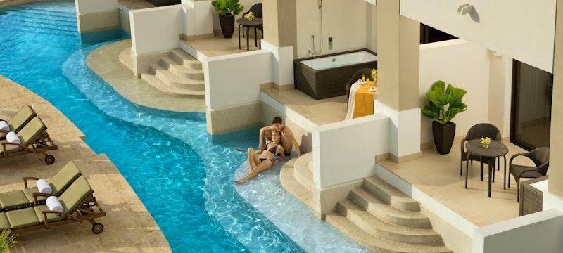 Preferred Club Junior Suite Ocean View Swim-Out at Secrets St James & Secrets Wild Orchid Montego Bay, Jamaica
