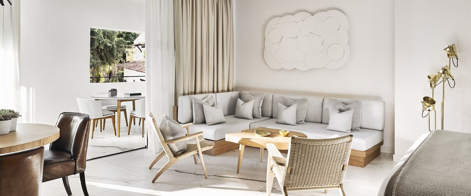 Junior Suite Living Area at Nobu Marbella, Costa Del Sol, Spain