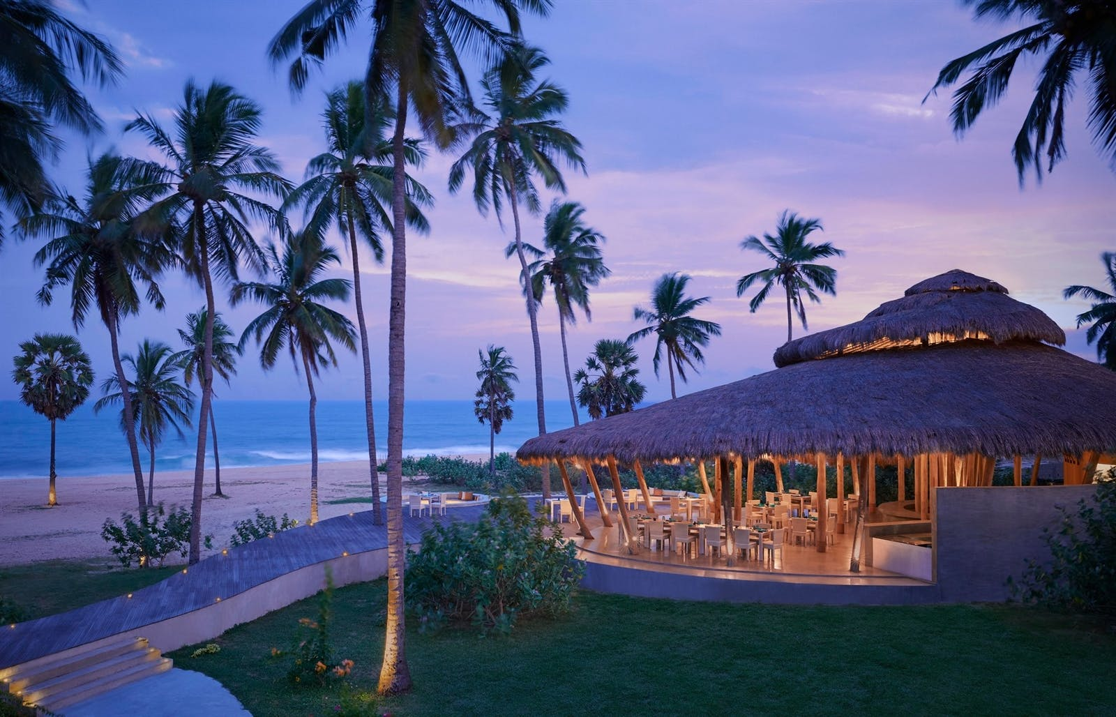 Evening View of Dining Area, Jetwing Surf, East Coast Beaches, Sri Lanka