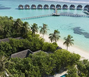 Aerial View of Kanuhura, Maldives
