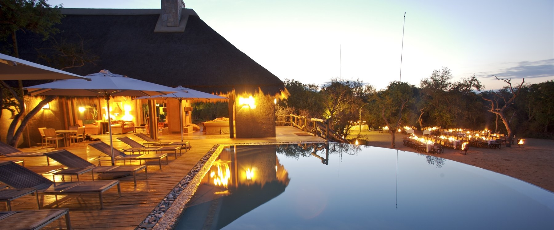 Pool area at Kapama River Lodge, South Africa