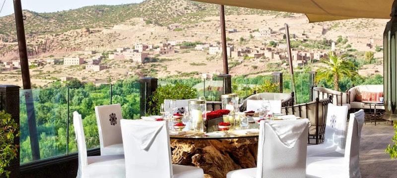 Restaurant at Kasbah Tamadot, Marrakech