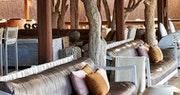 Multi-decked lounge at Kings Pool Camp, Bostwana