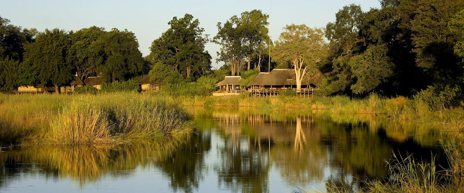 View of Kings Pool Camp, Botswana