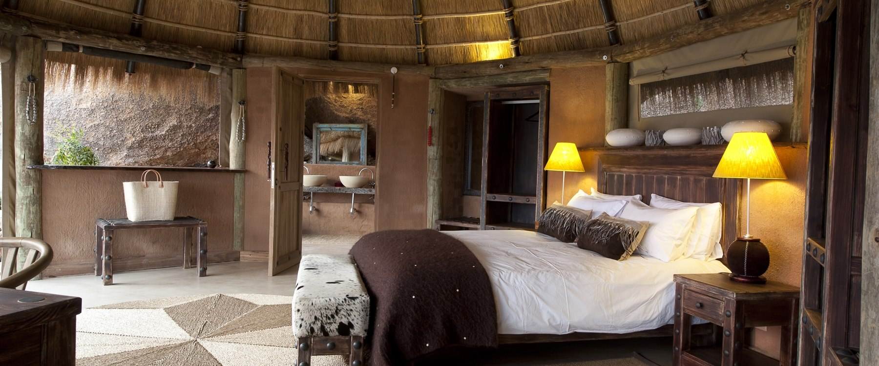 Suite interior at Camp Kipwe