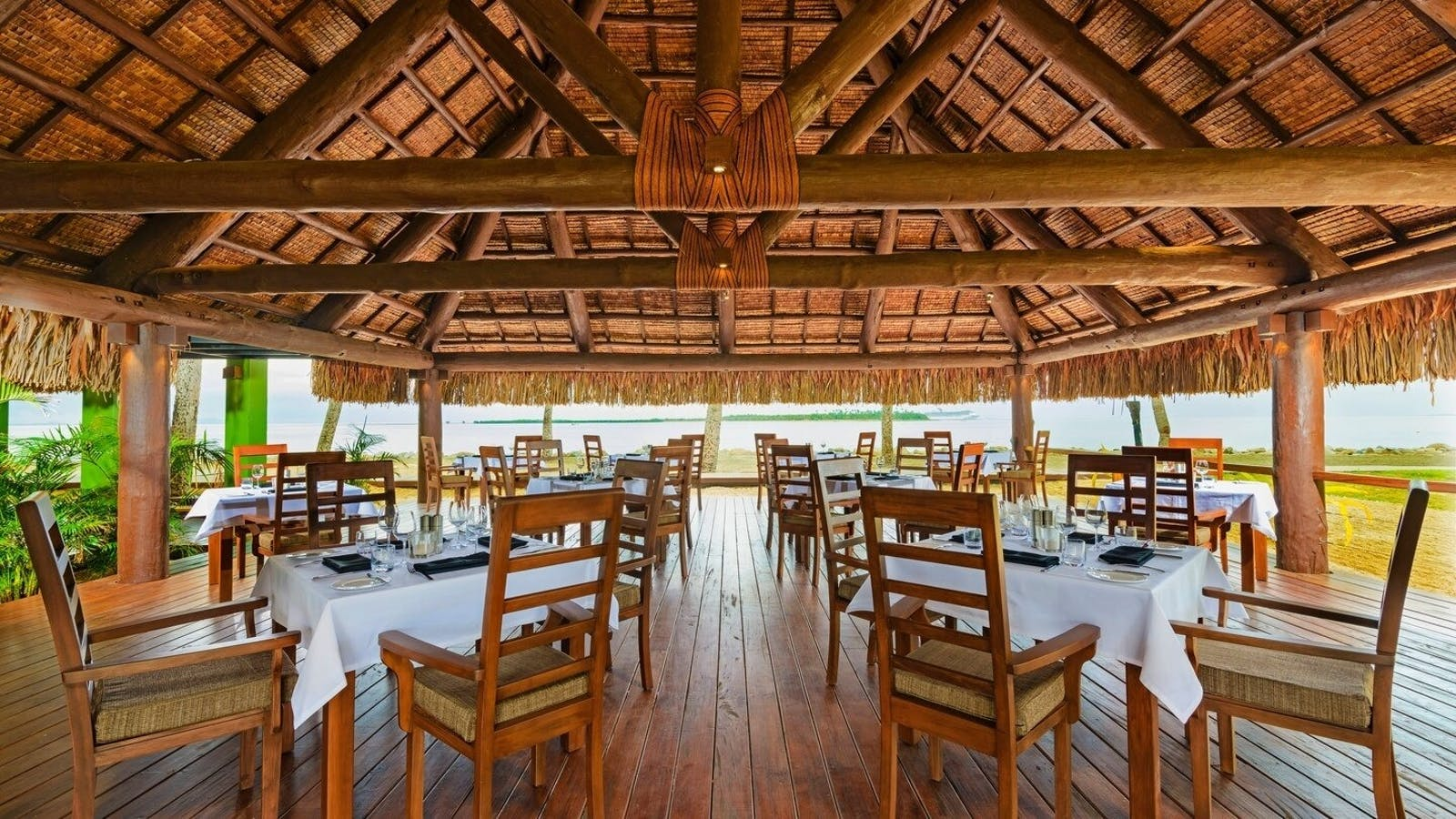 Dining undercover at The Westin Denarau Island Resort & Spa