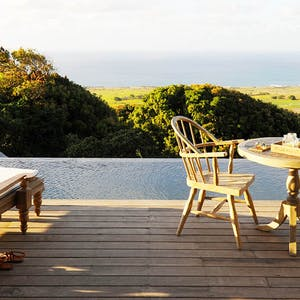 Private decking area at Kittian Hill, Belle Mont Farm