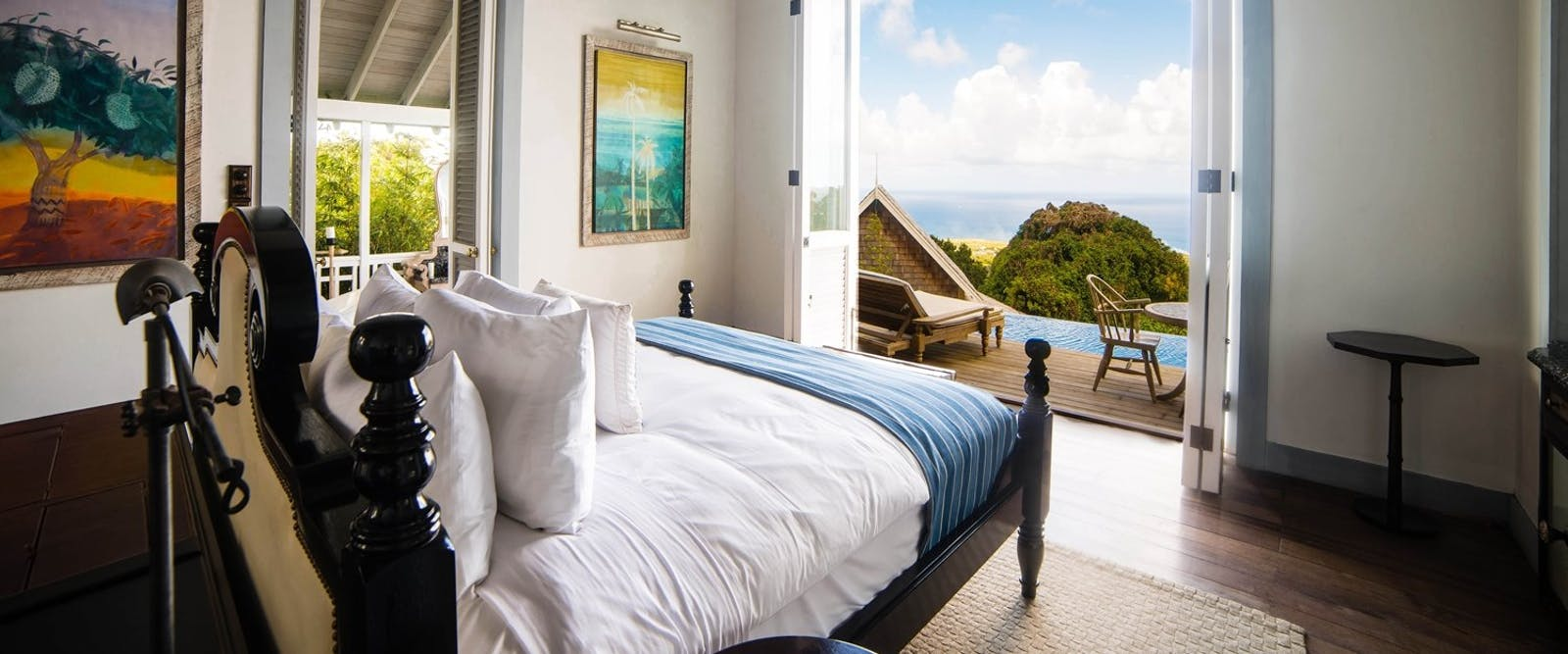 Bedroom with Beautiful View at Belle Mont Farm, St Kitts