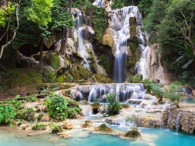 Luang Prabang – Pak Ou Caves and Kuang Si Waterfalls