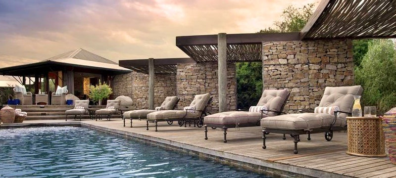 Ecca Lodge main pool at Kwandwe Private Game Reserve, Eastern Cape
