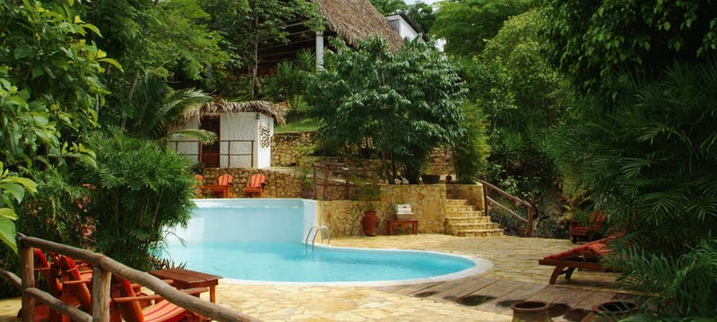 Swimming pool at La Lancha, Guatemala