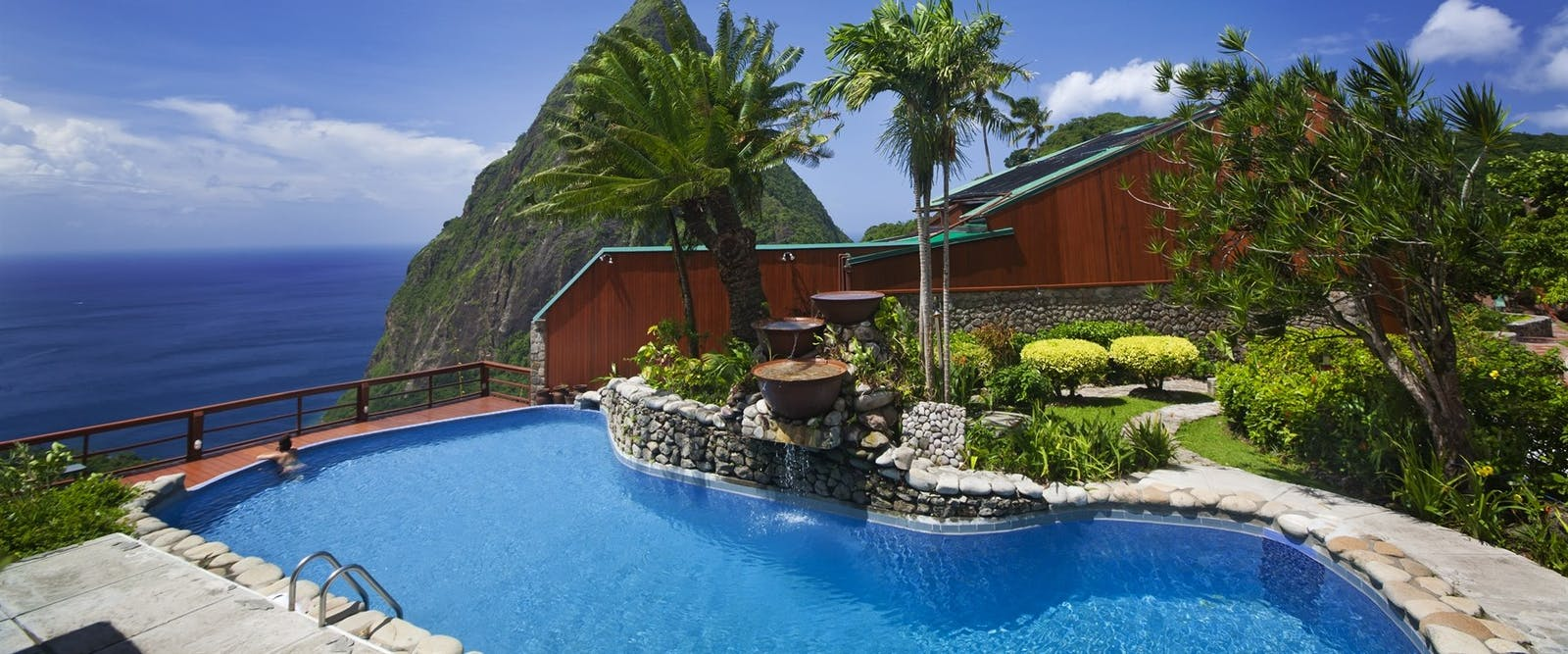 Main Pool at Ladera, St Lucia