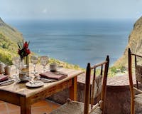 Terrace with Stunning View at Ladera, St Lucia