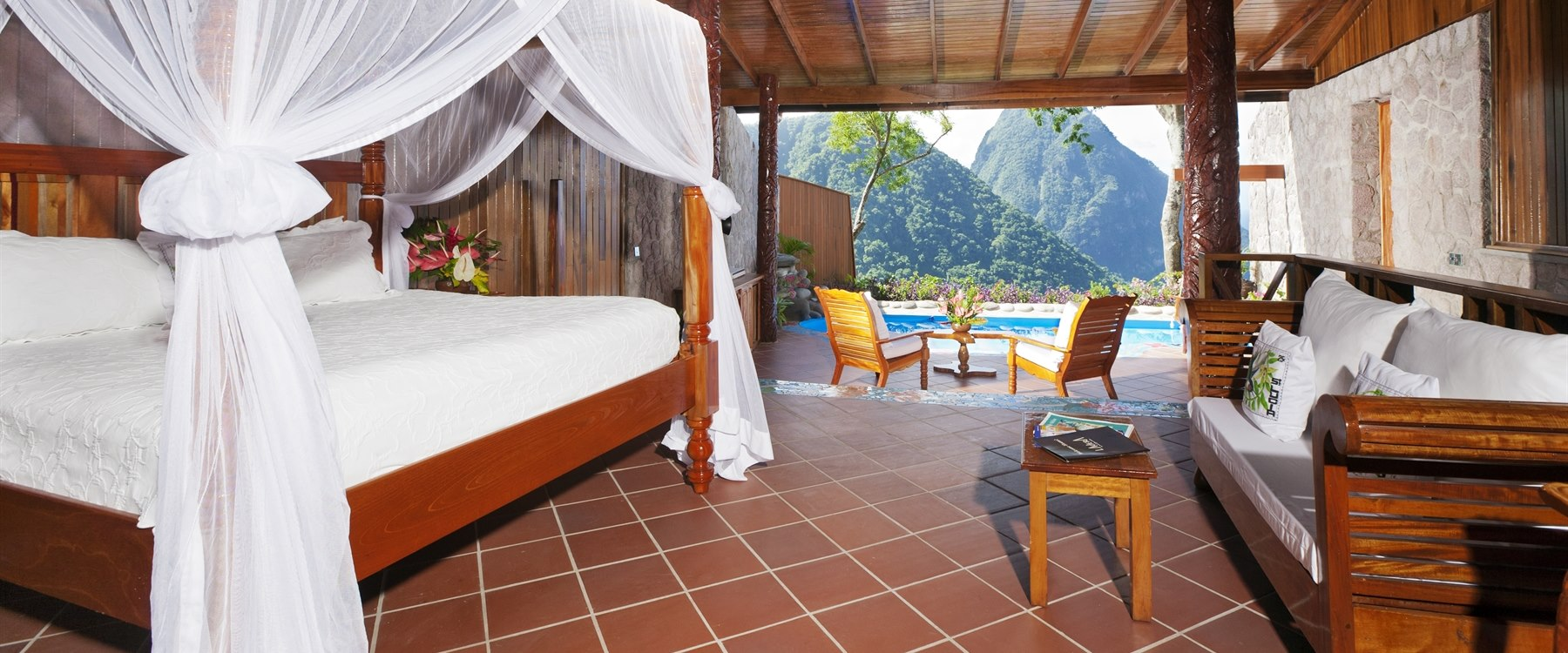 Suite at Ladera, St Lucia