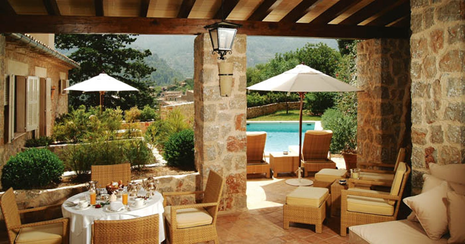 Private Terrace at La Residencia, A Belmond Hotel, Mallorca