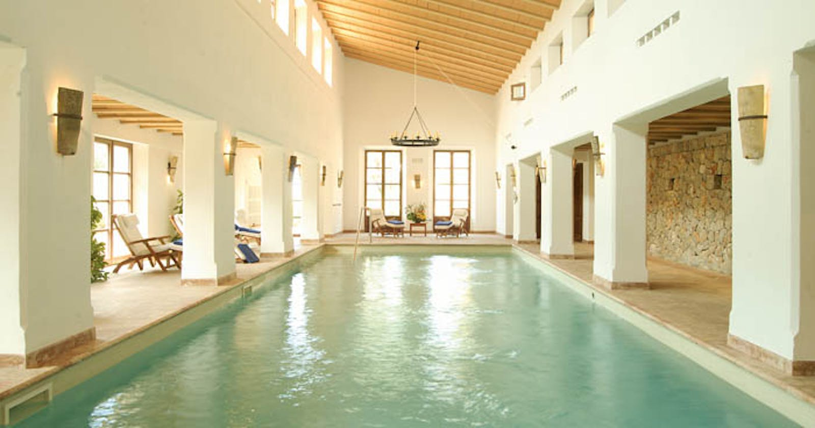 Indoor Pool at La Residencia, A Belmond Hotel, Mallorca