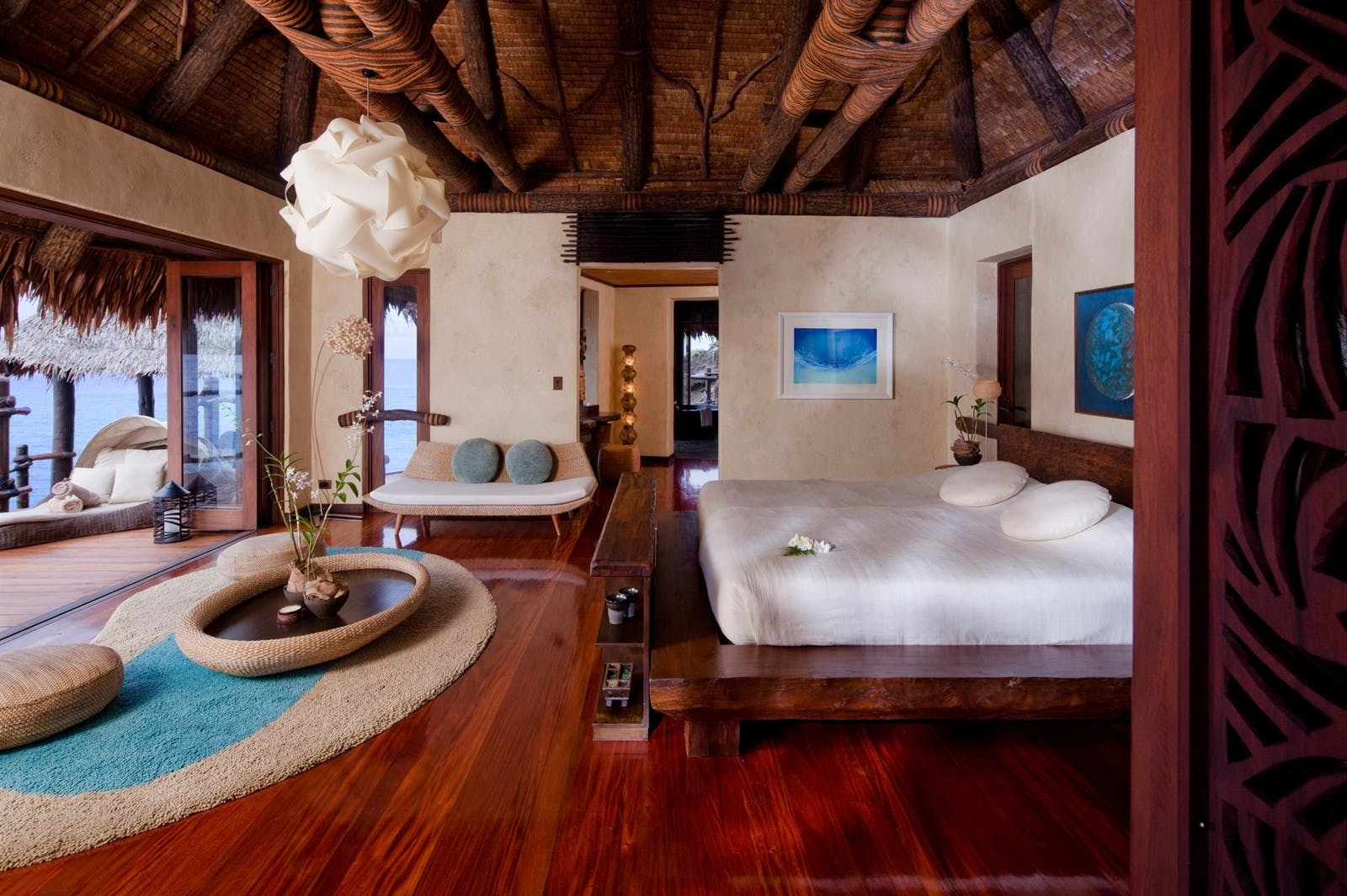 Overwater Villa Bedroom at Laucala Island, Fiji