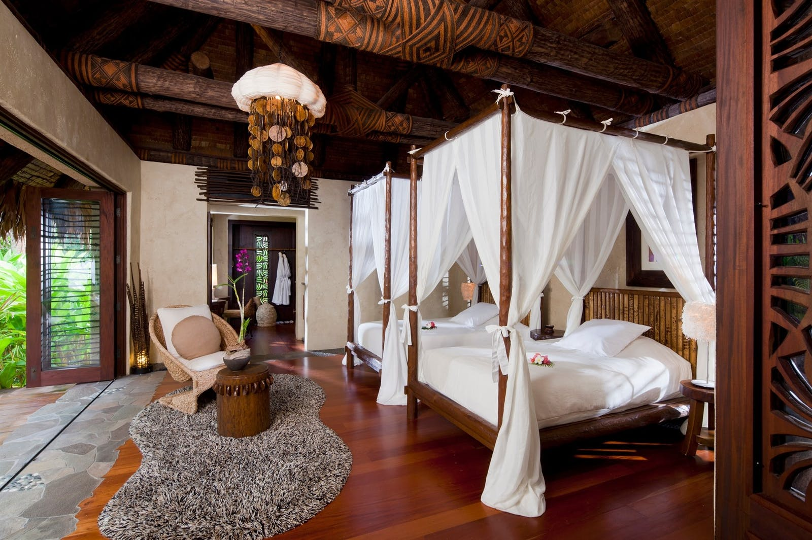 Plantation Villa Bedroom at Laucala Island, Fiji
