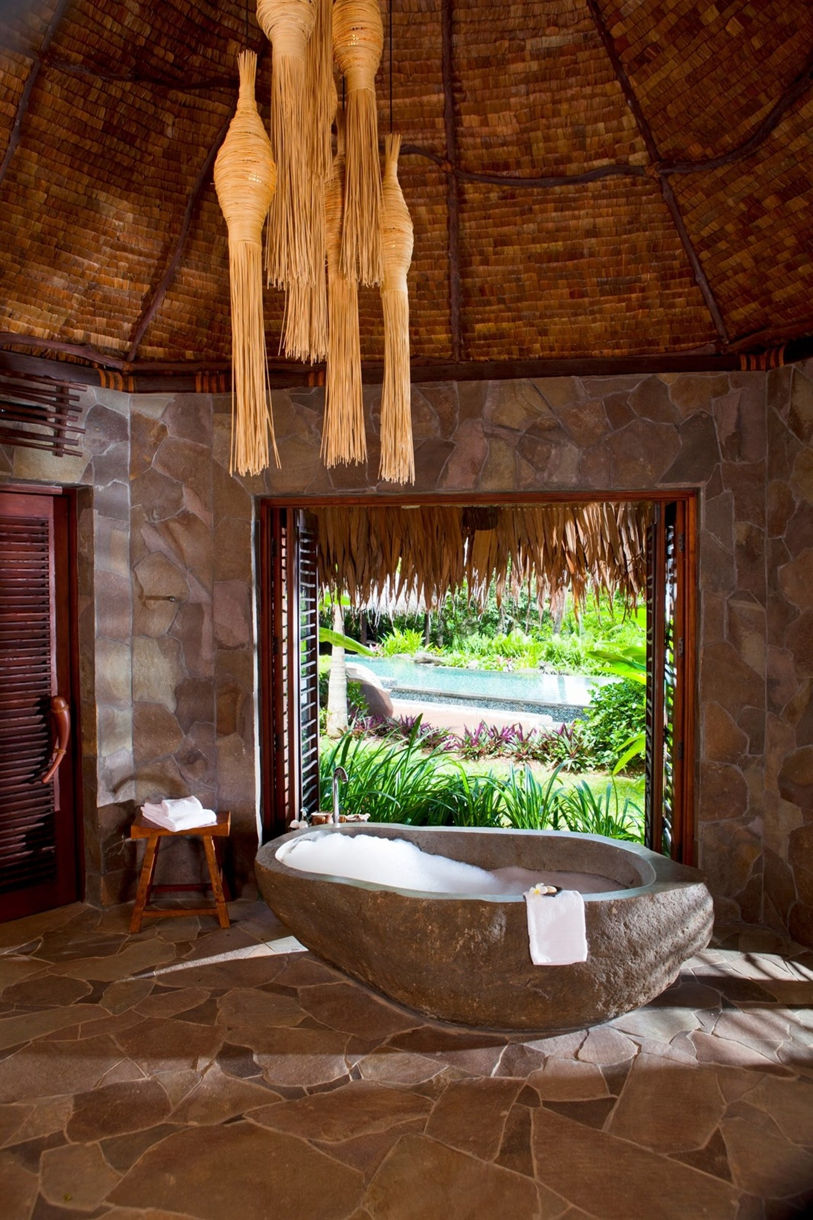 Plateau Villa Bathroom at Laucala Island, Fiji