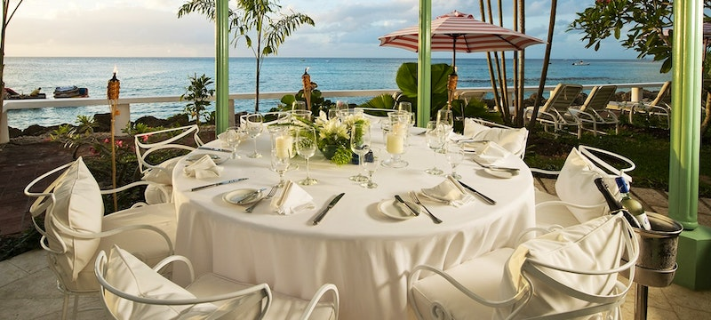 Indulge in al fresco dining at Lazybones Pavillion at Cobblers Cove, Barbados