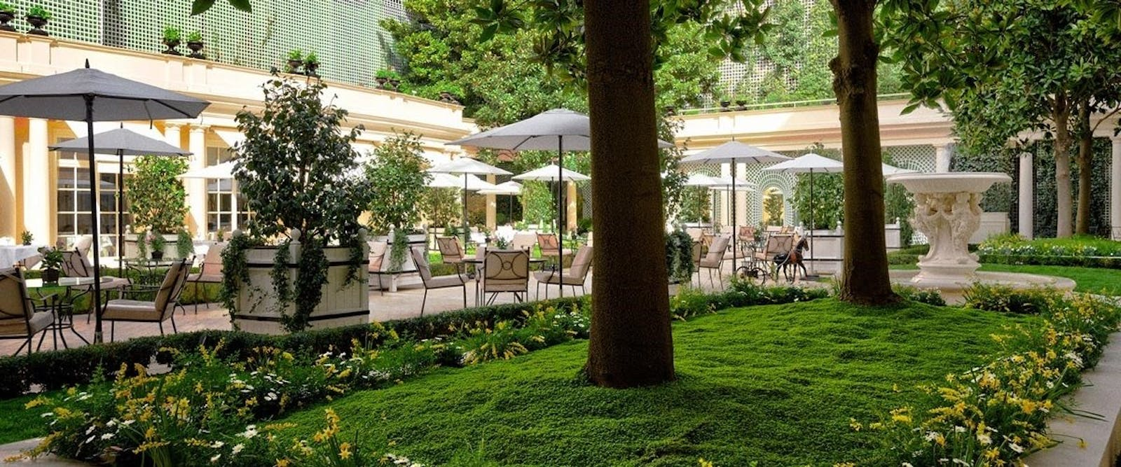 Hotel Gardens at Le Bristol, Paris, France